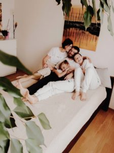 Une serie de photo faite a distance pour une famille