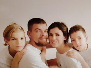 Seance photo pour une famille a domicile